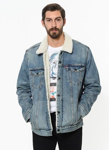 Levi's® Rpa Trucker Normal Kesim Düz Paça Klasik Erkek Jean Ceket Hardal